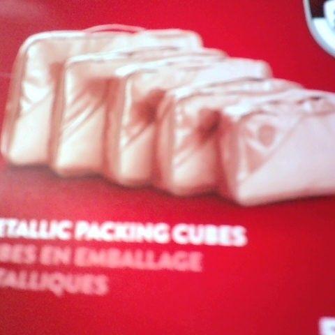 METALLIC PACKING CUBES - 5 PIECES