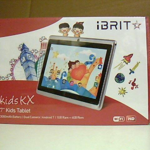 """BOXED AND SEALED IBRIT KIDS KX 7"""" KIDS TABLET"""