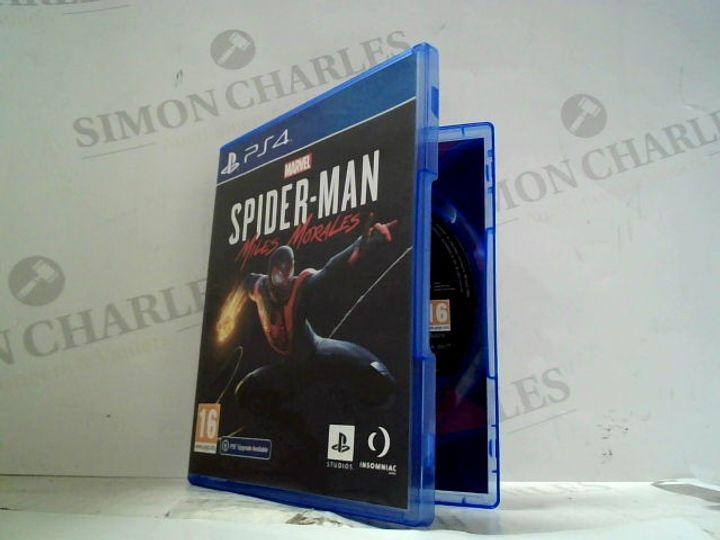 MARVEL SPIDER-MAN: MILES MORALES PLAYSTATION 4 GAME
