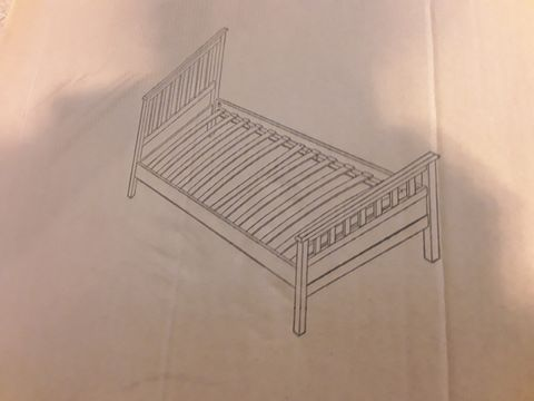 ASSORTED FURNITURE AND PARTS TO INCLUDE; DAWSON HFE SINGLE BEDFRAME