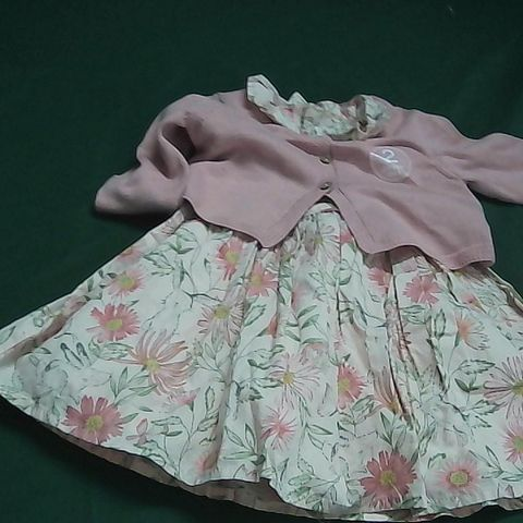 NEXT BABY OUTFIT PINK DRESS 3-6 MONTHS