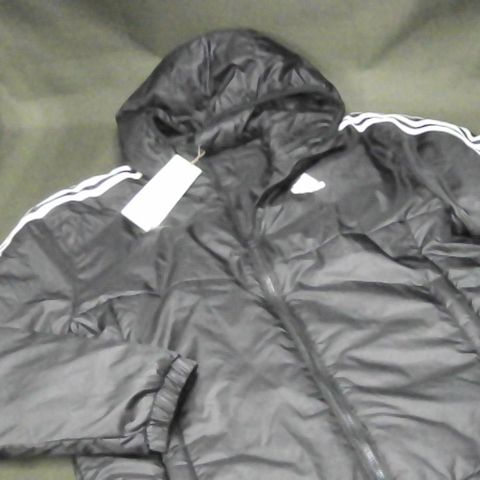 ADIDAS PRIMEGREEN HOODED JACKET IN BLACK - SMALL