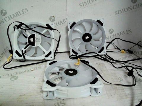 CORSAIR ICUE QL120 RGB, 120 MM RGB LED PWM FANS TRIPLE PACK - WHITE