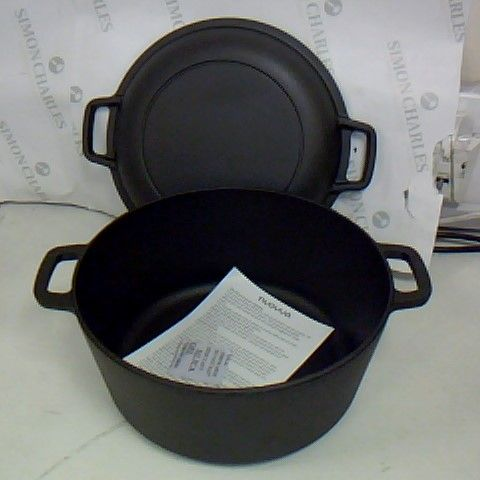 NUOVVA CAST IRON COOKING POT WITH LID