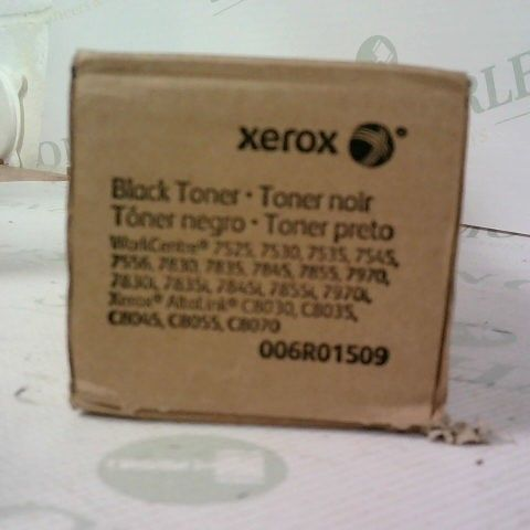 TWO XEROX BLACK TONER ONE BOXED AND SEALED, ONE BOX HAS BEEN OPENED