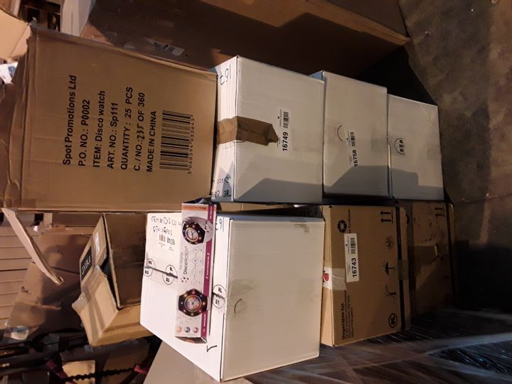 SEVEN BOXES OF DISCO WRIST WATCHES