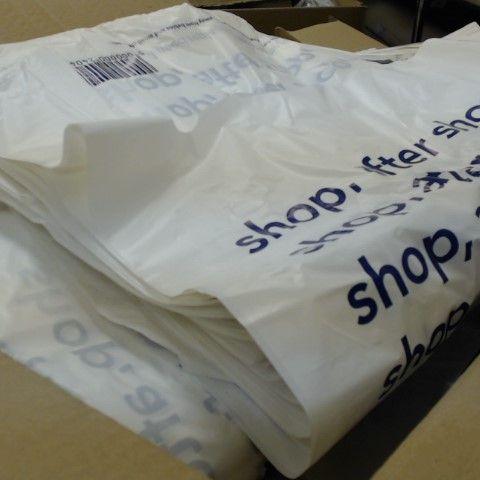 BOX OF UNUSED SHOPPING BAGS