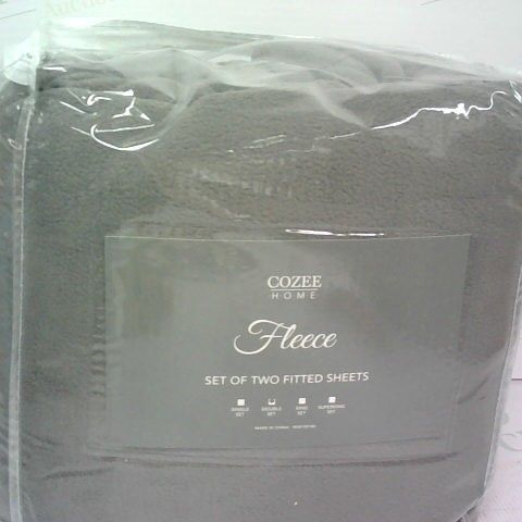 COZEE HOME FLEECE SET OF FITTED SHEETS DOUBLE