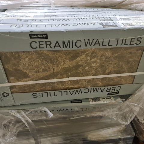 PALLET OF APPROXIMATELY 40 BRAND NEW CARTONS OF 5 SIENA BROWN MARBLE EFFECT CERAMIC TILES - 60X30CM