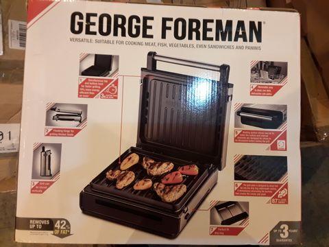 GEORGE FOREMAN STAINLESS STEEL SMOKELESS MEDIUM GRILL