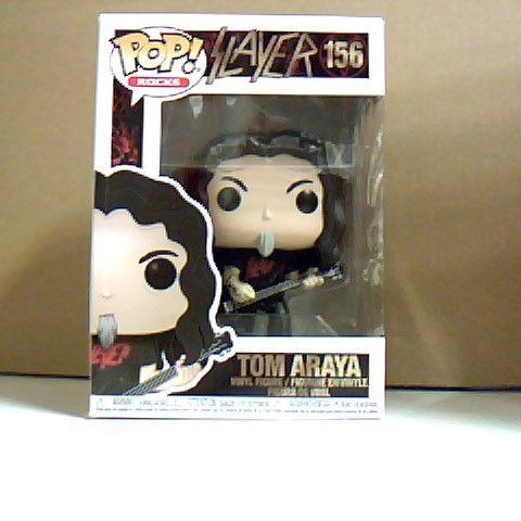 BOXED POP! ROCKS SLAYER TOM ARAYA VINYL FIGURE