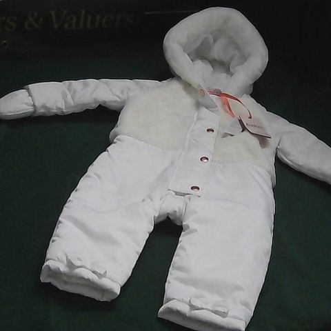 BAKER BY TED BAKER WHITE SNOWSUIT 18-24 MONTHS