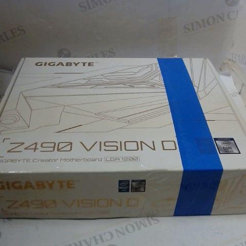 GIGABYTE Z490 VISION D INTEL LGA1200 ATX MOTHERBOARD