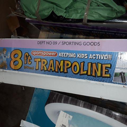 SPORTS POWER 8FT TRAMPOLINE