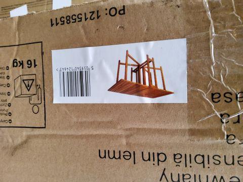 BOXED VIRGINIA WOODEN CONDOLE TABLE