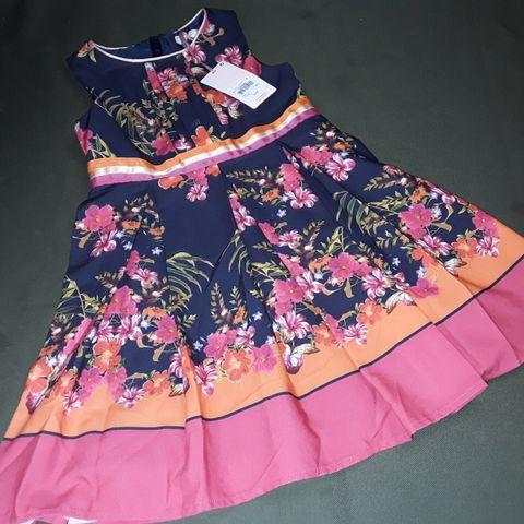 TED BAKER FLORAL PRINT DRESS - 6YRS