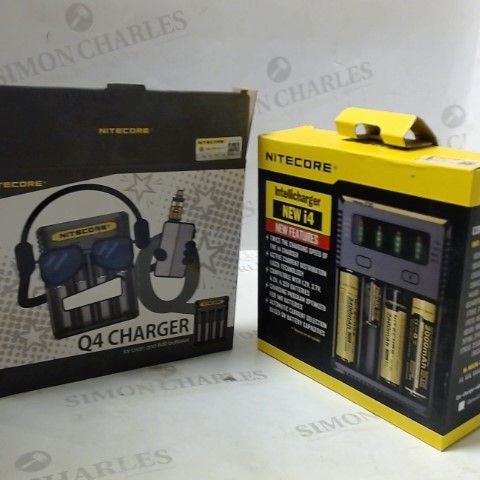 BOX OF APPROXIMATLEY 10 ASSORTED NITECORE BATTERY CHARGERS
