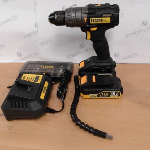 TECCPO 18V HAMMER DRILL/DRIVER KIT