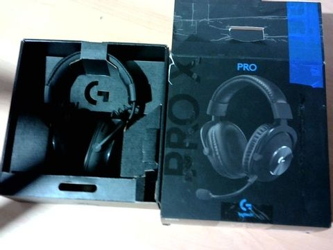 LOGITECH G PRO X GAMING-HEADSET, OVER-EAR HEADPHONES WITH BLUE VO!CE MIC, DTS HEADPHONE:X 7.1, 50MM PRO-G DRIVERS, 7.1 SURROUND SOUND FOR ESPORTS GAMING, PC/PS/XBOX/NINTENDO SWITCH - BLACK