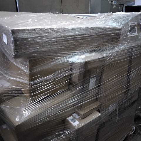 PALLET OF APPROXIMATELY 33 ASSORTED ITEMS TO INCLUDE A JM BY JULIEN MACDONALD CRYSTAL LOTUS FLOWER TEALIGHT HOLDERS GIFT SET AND JM BY JULIEN MACDONALD SIGNATURE CRYSTAL CIRCULAR WALL MIRROR
