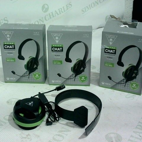 3 X TURTLE BEACH RECON CHAT WIRED HEADSET