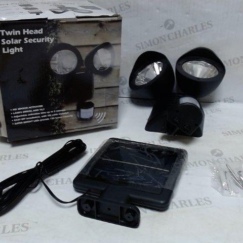 TWIN HEAD SOLAR SECURITY LIGHT