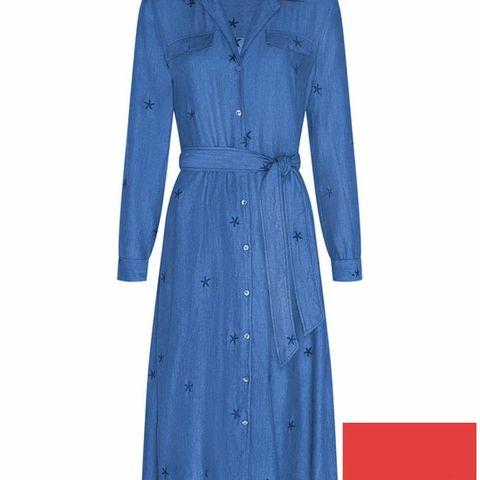 BRAND NEW FABIENNE CHAPOT THEA SHIRT DRESS - BLUE, SIZE 10