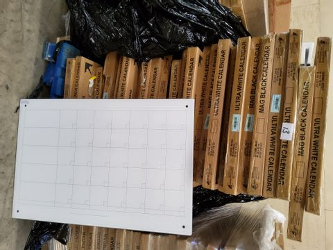 PALLET OF APPROXIMATELY 27 CALENDAR MAGNETIC GLASS DRY-ERASE BOARDS 60 × 90cm