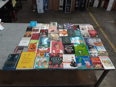 CAGE OF ASSORTED UNPROCESSED BOOKS TO INCLUDE TITLES BY HARPER LEE, C. C. MACDONALD, THOMAS HOOD, ERIC HILL, CASSANDRA CLARE, ETC.