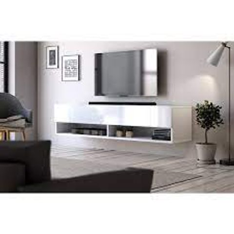 """BOXED DOLTON WHITE TV STAND FOR TVS UP TO 60"""" (1 BOX)"""