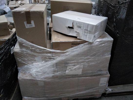 PALLET OF ASSORTED ITEMS, INCLUDING, HP LASERJET CARTRIDGES, XL GREY PET BEDS,