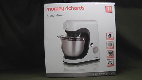 MORPHY RICHARDS STAND MIXER 400023 800W WHITE GREY