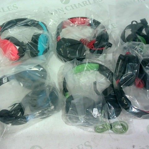 6 X ASSORTED PAIRS OF GAMING HEADSETS TO INCLUDE TURTLE BEACH/ NINTENDO