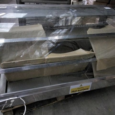 COUNTERLINE CURVED GLASS FRONTED HEATED DISPLAY COUNTER TOP UNIT
