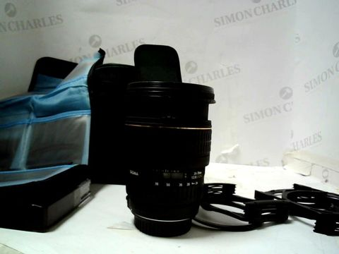 SIGMA 24-70MM F2.8 EX DG CAMERA LENS WITH ACCESSORIES (CANON MOUNT)