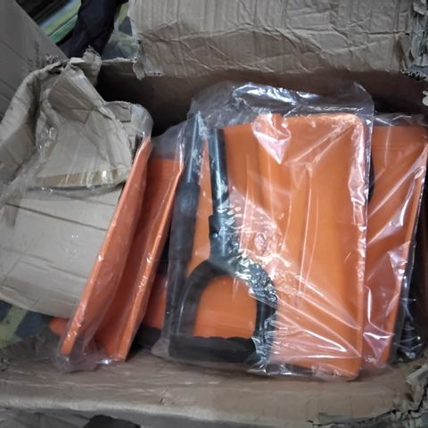 BOX OF APPROXIMATELY 11 ASSORTED PLASTIC SHOVEL HEADS