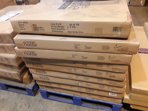 PALLET OF 16 X BRAND NEW BOXED JESSICA CHEST PARTS- BOXES 2 OF 2 ONLY, AND 1 X BRAND NEW BOXED GH SQUARE BED PARTS- BOX 1 OF 2 ONLY