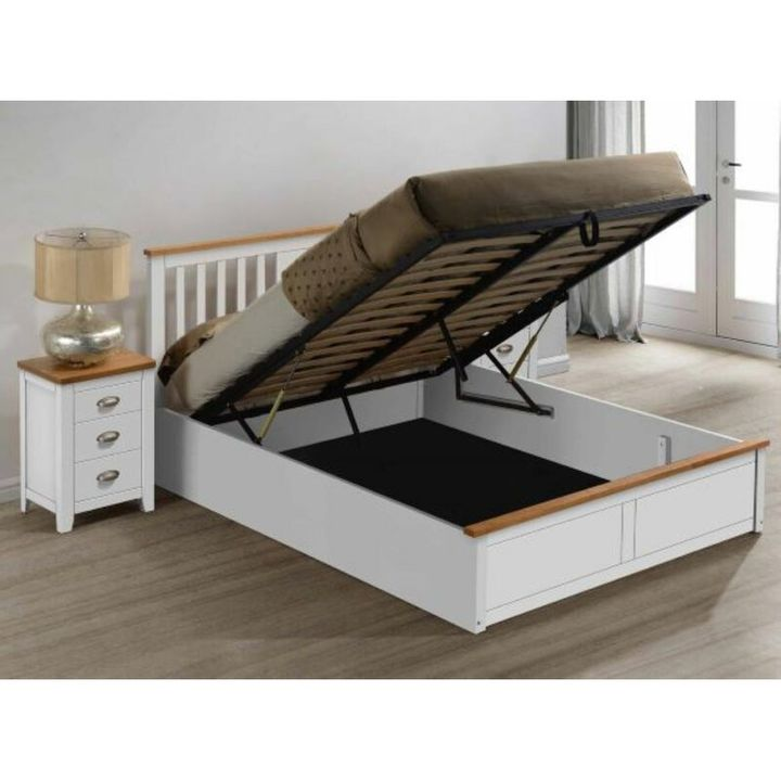 BOXED SOULE OTTOMAN STORAGE BED -WHITE KINGSIZE ONLY BOX 1 OF 3