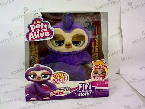 2 BOXED BRAND NEW ZURU PETS ALIVE FIFI THE FLOSSING SLOTH