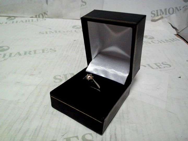 9CT WHITE GOLD 50 POINT DIAMOND SOLITAIRE RING