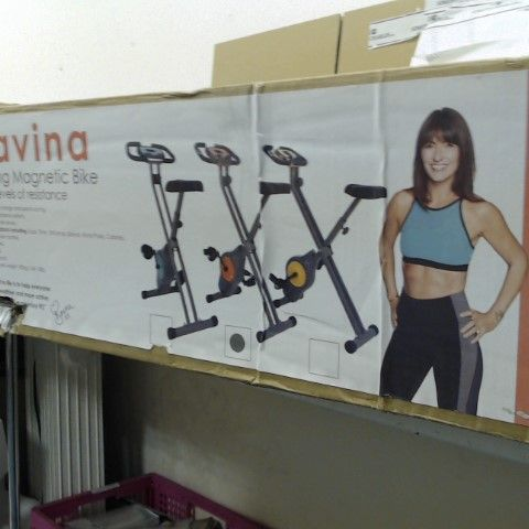 DAVINA FITNESS FOLDING MAGNETIC EXERCISE BIKE- COLLECTION ONLY
