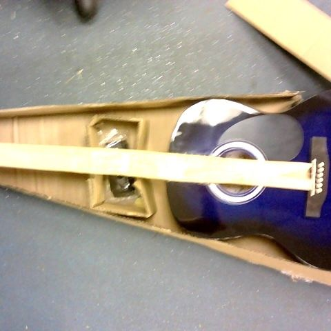 MARTIN LEWIS FULL SIZED ACOUSTIC GUITAR - BLUE