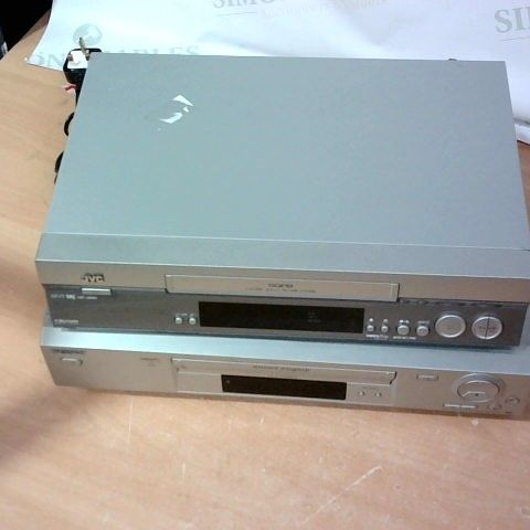 LOT OF 2 ASSORTED VIDEO CASSETTE PLAYERS TO INCLUDE JVC AND SONY