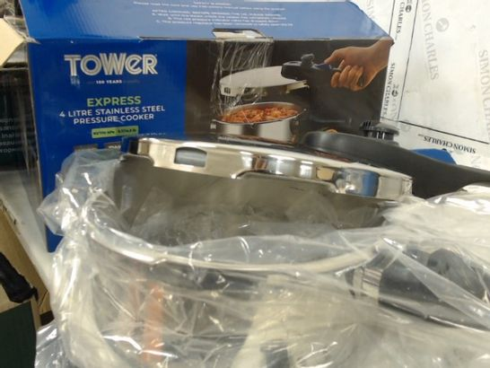 TOWER EXPRESS PRESSURE COOKER WITH BAKELITE LID LOCK SYSTEM