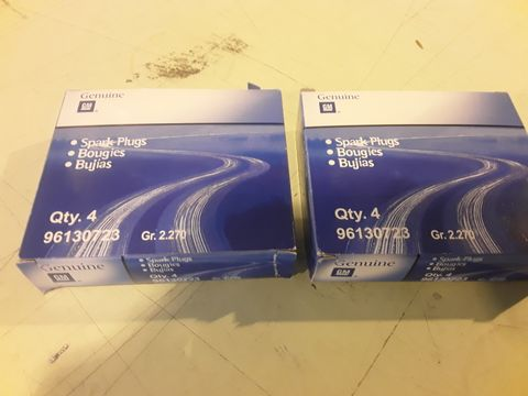 TWO BOXES OF 4 GENUINE GM SPARK PLUGS 96130723