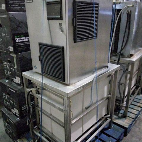HOSHIZAKI ICE MAKER FM-480-AKE WITH STAND & TROLLEY