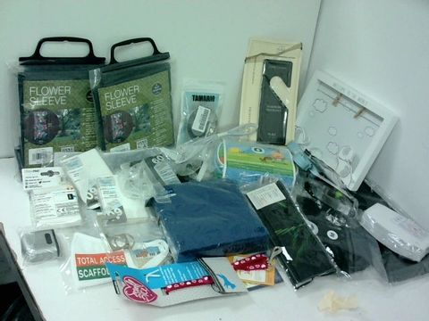 SMALL BOX OF ASSORTED HOMEWARE ITEMS TO INCLUDE FLOWER SLEEVES, CHILDS FIRST AID KIT, SMALL DOG HARNES