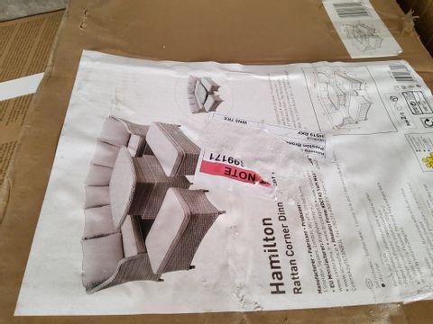BOXED HAMILTON RATTAN CORNER DINING SET - BOX 2 OF 2 ONLY