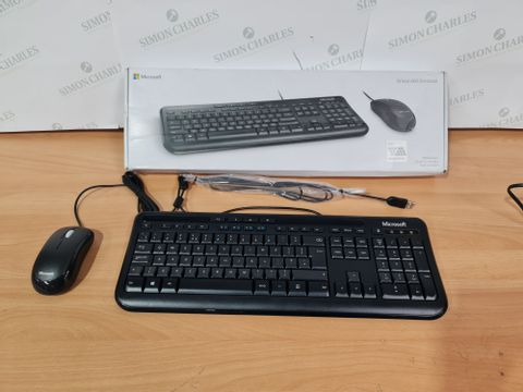 MICROSOFT WIRED 600 DESKTOP KEYBOARD AND MOUSE COMBO SET