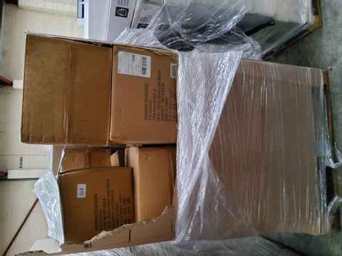 PALLET OF APPROXIMATELY 23 CASES EACH 150 LONG SLEEVED PLASTIC APRONS & TOILET CROWN VINYL STICKERS